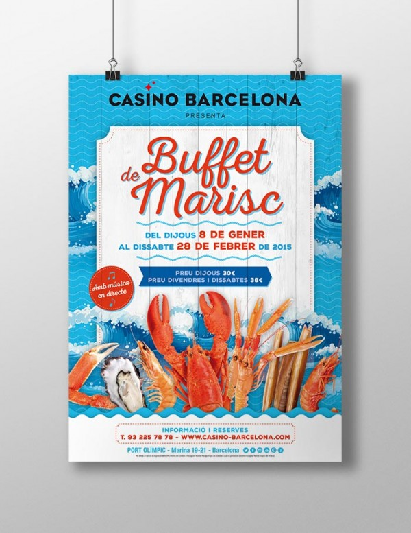 Buffet de Marisco de Casino Barcelona