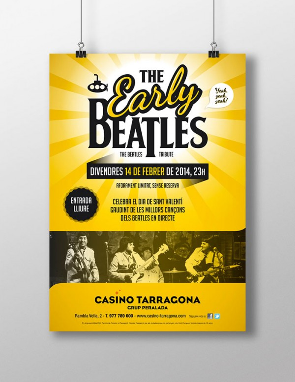 Cartel de The Early Beatles en Casino Tarragona